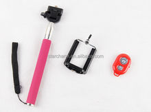 Accept OEM stick monopod self shooting monopod with wireless bluetooth phone accessory