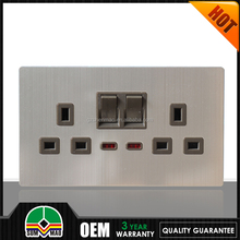 15 years warranty UK Style double/single 13A switched socket 1 gang switch UK socket. British standard. 13A square outlet