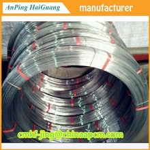 hot -dip Galvanized oval wire for 1000m /roll , Oval-shaped wire