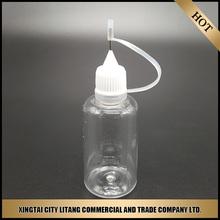 Alibaba china new product pet plastic needle dropper bottle/needle bottle
