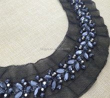 New arrival handmade embroidery beaded neckline for garments HY003