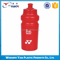 Branded plastic water bottle, plastic water bottle self sealing lid in different shapes, BPA free recycling plastic water bottle