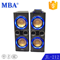 2015 new speaker double 12 inch professional stage DJ speaker with flash light