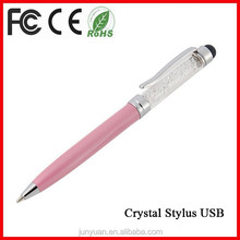 Fashion Jewelry Crystal USB Pen Touch USB Pen Thumb Drive
