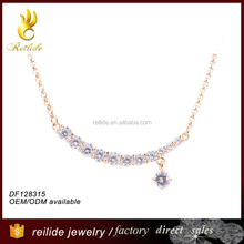 [Reilide]Crystal stone rhinestone beaded silver 925 necklace design christmas santa diy large stone crystal beads necklace 2015