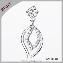 factory direct sale 925 sterling silver pendant purple zircon for lady