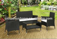 Todo tipo de clima mimbre muebles de jardín conjunto hb41.9392