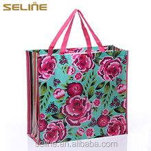 2015 promotional recyclable tote laminated pp non woven shopping bag