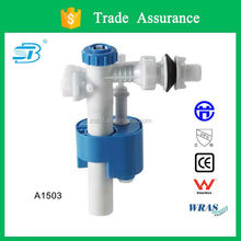 Anti-siphon toilet tank side fill valve with silent design (A1503)