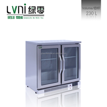 LVNI 200L,stainless steel black cooler beer cooler/table top mini small display fridge