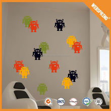01-0318 Paper product animal wall stickers for kids cute wall sticker measurement wall sticker