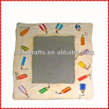 Innocent resin custom color pencil kids photo frames wholesale