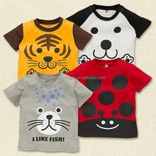 Cute children T shirt,cartoon animal designs 2015 Summer
