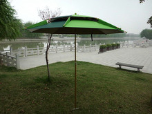 Honsen new style beach umbrella with fan promotion