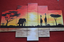 Five pieces modern group painting on canvas group art