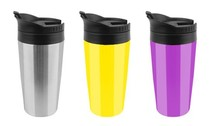 plastic tumbler cups with steel outside