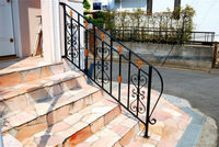 decorative wrought iron doors and stair handrails,gates,fence ,railings