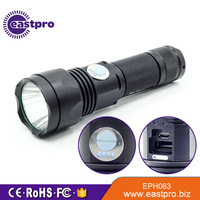 Most Powerful Long Distance Range Heavy Duty High Beam Power Usb 3.7v Rechargeable Led Big Hand Led Torch Light Flashlight Price