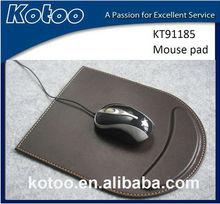wholesale PU leather wrist rest mouse pads/ luxury leather moust pads