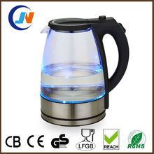 Factory 1.8L Cordless 360 Degrees rotation Glass tea glass kettle
