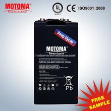 MOTOMA High Quality 2V 1000AH deep cycle Storage Battery
