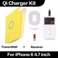 Good Quality Hot Sale Cheap Qi Wireless Charger Receiver Transmitter Kit for iPhone 6 4.7 inch