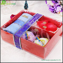 Microfiber Gift Towel packing, Cake Souvenir towel, Flower Towel wedding door gift wedding gift box gift boxes for towels LC04