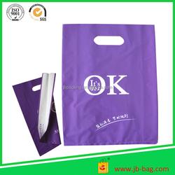 Punch handle PE printed custom made shopping bag designer shopping plastic bag