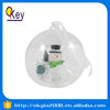 10cm color changing led plastic ball hanging Christmas snowman ornaments