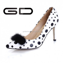 New Brand 2015 Women Pumps Sexy Dot pointed Wedding Party Evening Shoes Ladies Pointed Toe High Heels Dress Shoes