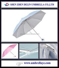 popular 3 folding lady shopping bag umbrella with UV