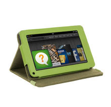 """Amazon Kindle Fire 7"""" Tablet Khaki Green Version Stand Natural Hemp Cover Case"""