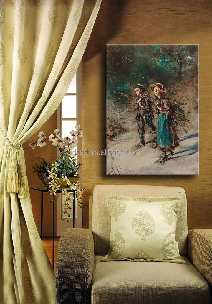 Coffee Painting on Canvas Coffee Oil Paintings on