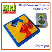 13Cm High quality tangram puzzle educational toy plastic tangram
