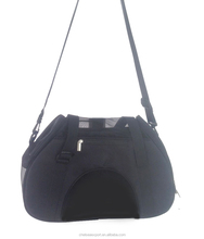 600D polyester tote cheap simple pet bag carrier in black color
