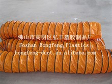pvc duct pipe / fire resistant and black plastic flexible exhaust pipe duct