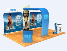 Stretch fabric trade show displays aluminum tension fabric system fabric tube display