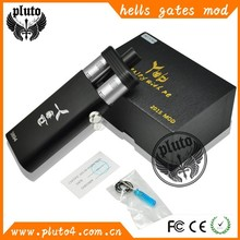 2015 Pluto top mech hell's gate vape box mod wholesale cool hell gate mod use for two atomzier