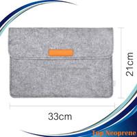 Custom Felt Laptop Sleeve Netbook Envelope Case with Small Felt Bag for Adapter Mouse Cards
