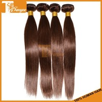 DHL free shipping 10pcs/set color 4# straight brazilian weave hair styles