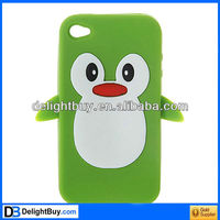 Cute Cartoon Penguin Silicone Case cover /Skin for iPhone 4 4S