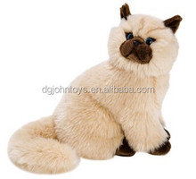 2015 new design realistic plush toys cats and dogs for children