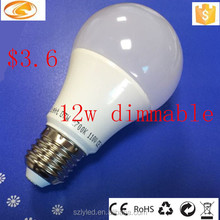 linear driver new dimmable E27 12w led bulb light
