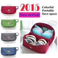 2015 Newly trendy 4 colors can choose wholesale underwear travel bra bag