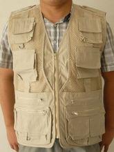 2013 Fashional photo vest in Beige color