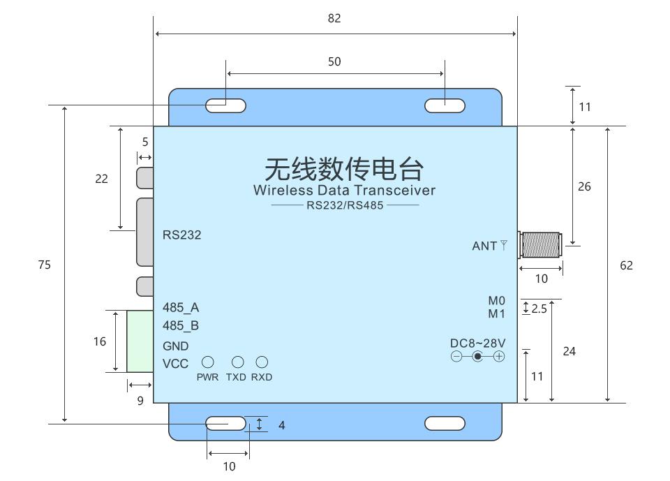 Ebyte E39-dtu-100 Rs232 Rs485 Dtu Full Duplex Wireless Rs232 ...