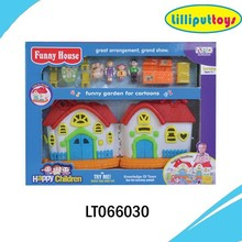 Funny plastic mini toy doll house furniture for children