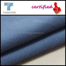 Tejido técnica de color azul 95 algodón 5 elastano twill tela de estiramiento de la tela de lycra para pantalones o skinny jeans