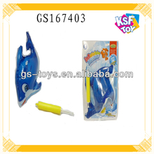 New Arrival Wind Up Toy Inflatabltable Wind Up Dolphin Toy With Inflator