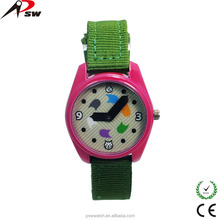 unique design multi color quartz watch nylon band watch cute kids watch
